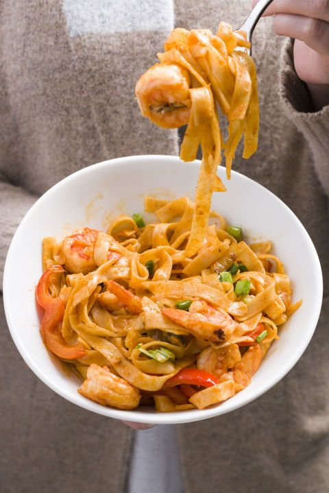 Sriracha Shrimp With Noodles If you love shrimp, make them spicy with ...