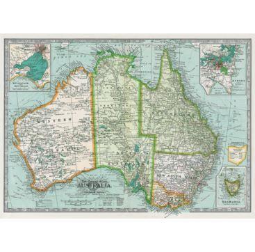 Giftwrap Map of Australia - Bobangles #Cavallini #vintage #map #poster #giftwrap #Australia