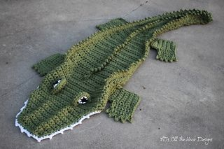 This is a PDF crochet pattern for a Bulky Alligator Blanket! This is one of the…