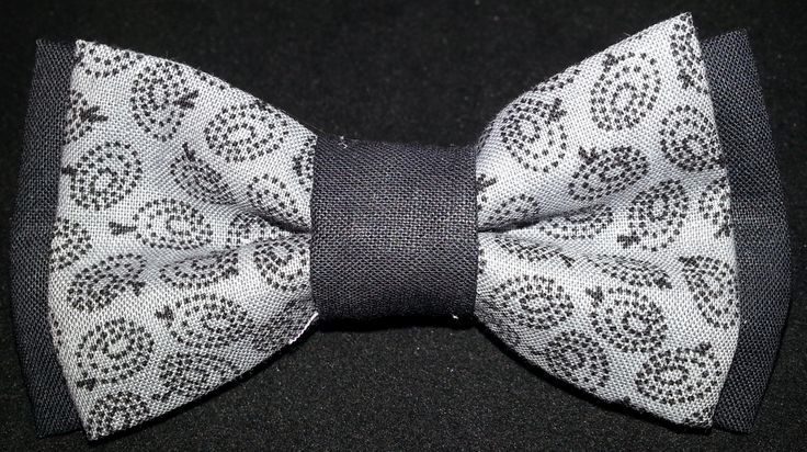 Double Black and Grey pattern Dog Bow tie #dogbowtique # ...