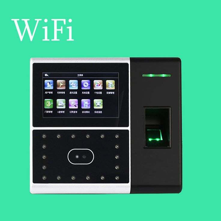WIFI Communication ZK Iface302 Face Time Attendance and Access Control Touch Screen With Double Camera