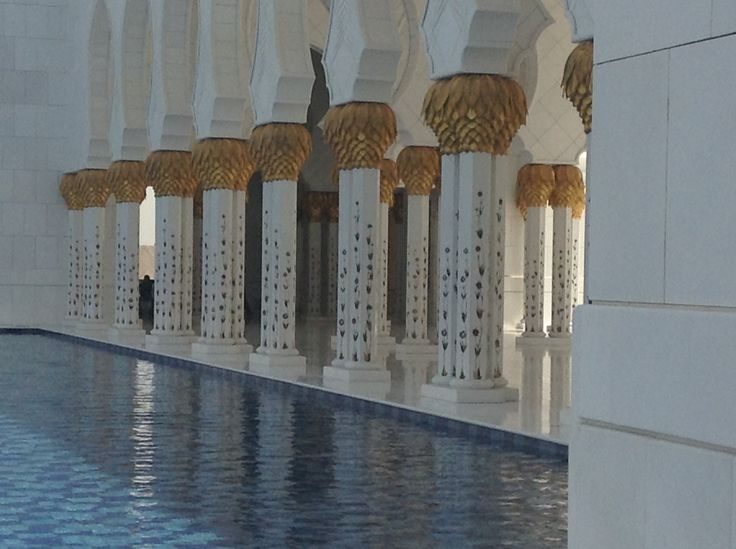Pillars and water