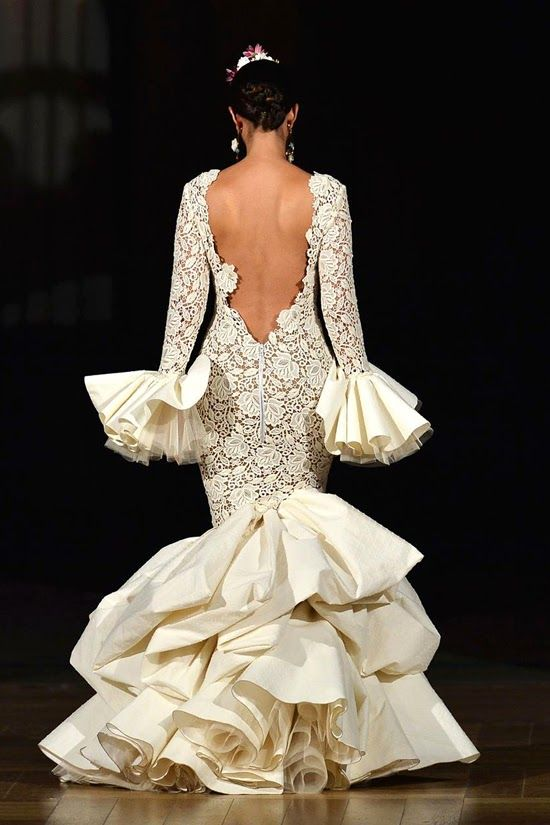 85 best images about moda flamenca on pinterest trips for Flamenco style wedding dress