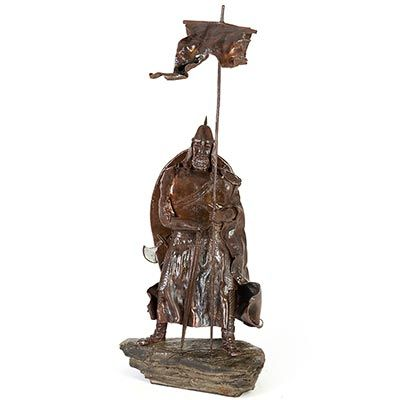 Escultura d'almogàver de Ferro forjat