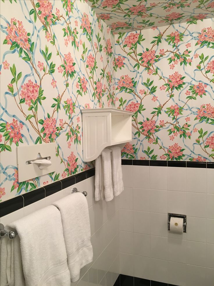... Even The Bathroom Wallpaper Is Great At The Greenbrier.