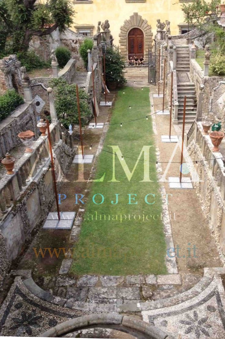 ALMA PROJECT @ Villa Gamberaia - Grotto - bulbs setup daytime 022