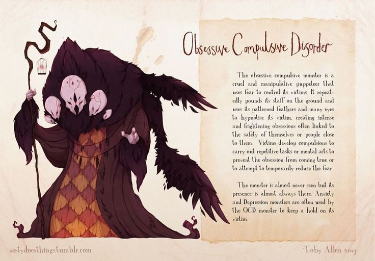 If Mental Illnesses Were Monsters… This Is What They'd Probably Look Like