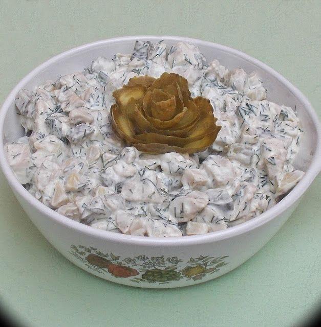 Salata cu piept de pui si ciuperci