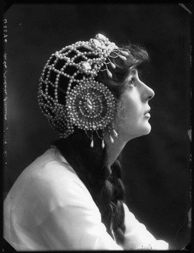 Love this headdress!  Julia James, 1913