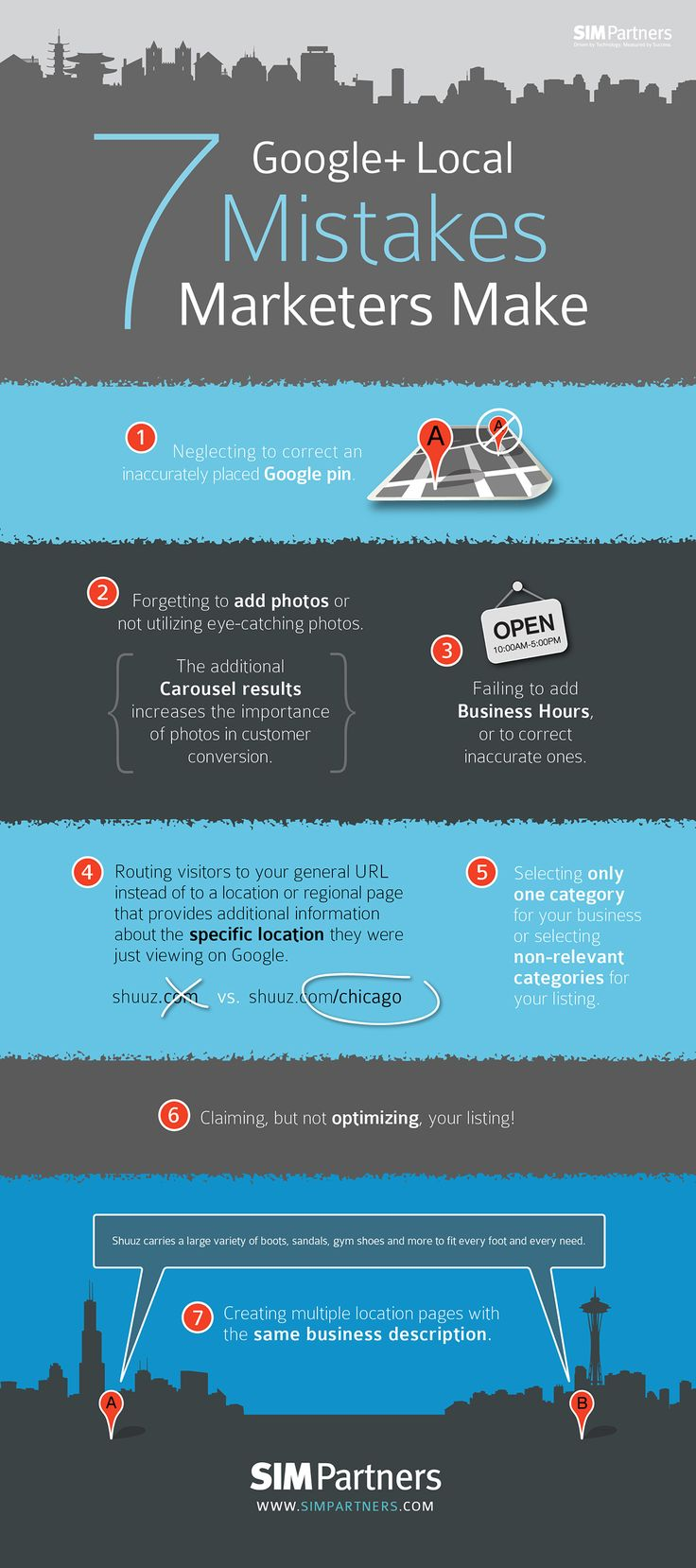 7 Google+ Local Mistakes Marketers Make #googleplus #infographic
