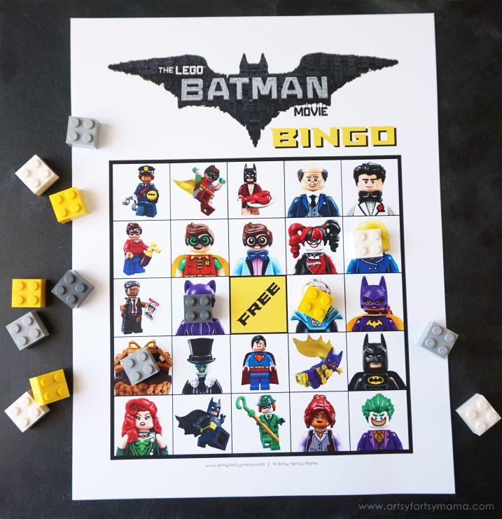 Download Free Printable LEGO Batman Movie Bingo @LEGO