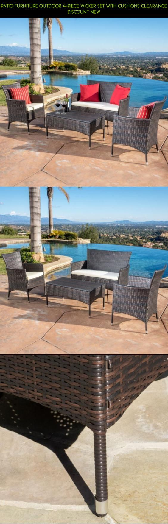 Patio Furniture Outdoor 4-piece Wicker Set with Cushions Clearance Discount New #camera #products #sets #drone #4 #patio #gadgets #fpv #furniture #kit #shopping #racing #plans #tech #technology #parts #clearance