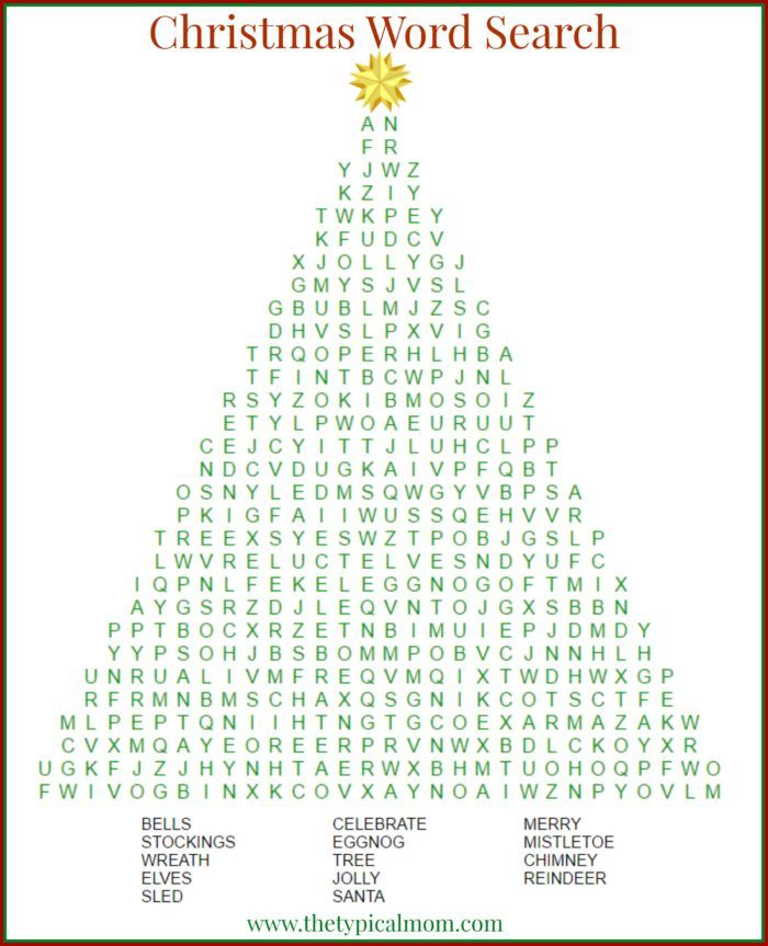 Christmas word search printable that's free to download and a great activity to do during the holidays or in the classroom too.