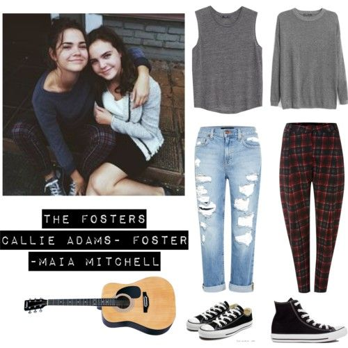 Callie Adams-Foster- Maia Mitchell- The Fosters by kikiindianna on Polyvore featuring polyvore fashion style MANGO Genetic Denim La Fée Maraboutée Converse