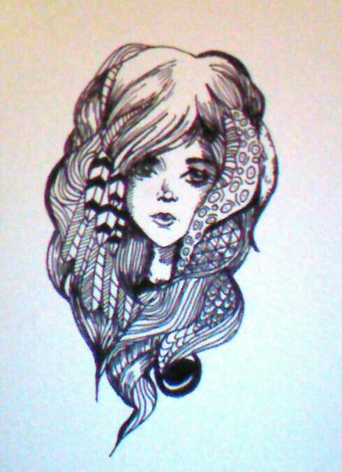 I had a go at a pen and ink picture i saw, i love this