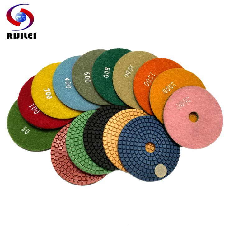 (4DS1) Free shipping 10 pcs/lot  4inch/100mm Wet Polishing Pads/granite polishing pads /diamond polishing pad, diamond tools #Affiliate