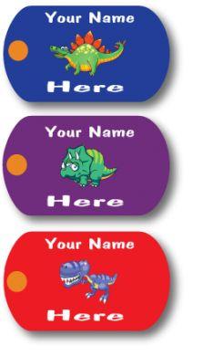 Custom Mini-Metal Tags - Dino-Myte