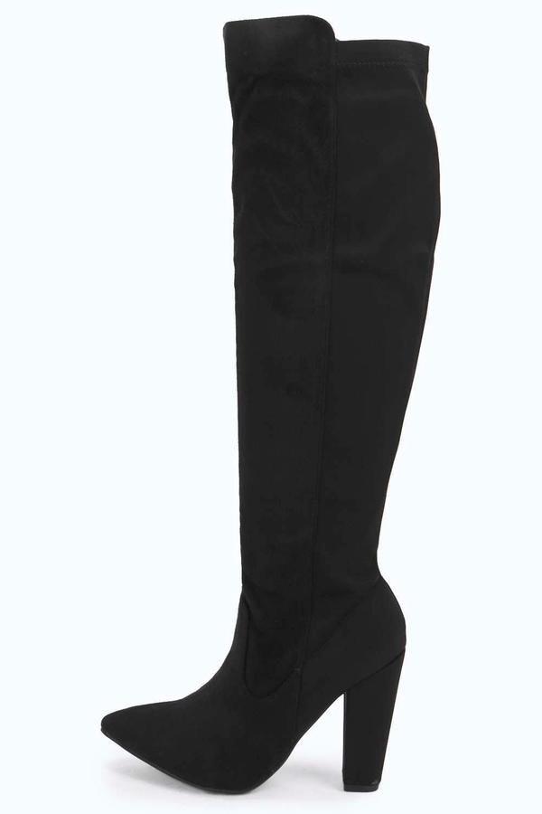 Elise Elastic Back Knee High Boot