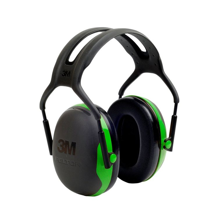 Amazon.com: 3M Peltor X-Series Over-the-Head Earmuffs, NRR 22 dB, One Size Fits Most, Black/Green X1A (Pack of 1): Industrial & Scientific