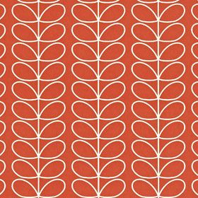 Linear Stem Wallpaper Poppy
