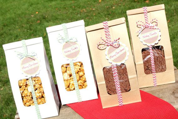 Tin Tie Favor Bags - Half Pound Christmas Favor Bag COMBO PACK (20 count) Perfect for Christmas treats, wedding favors, party favors & more!...