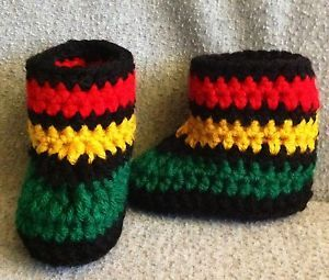 jamaican baby shower | rasta baby booties 0-3 months shower gift bob marley slippers ...