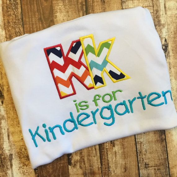 Kk is for Kindergarten Shirt for Child or by SweetPinspirations
