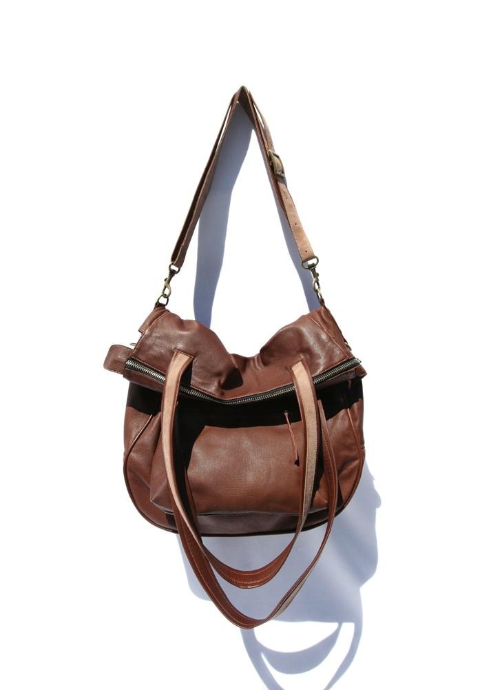 Leather Handbag The Kowalski in chocolate brown by DSepulveda