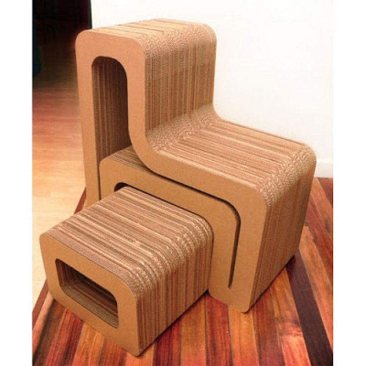 Модульный стул из картона