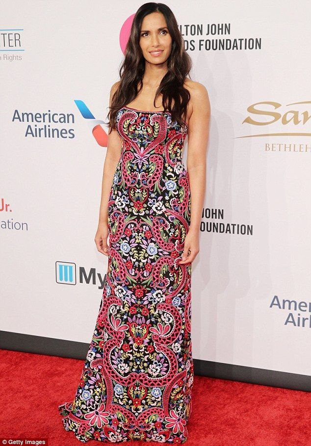 Pattern of excellence:Padma Lakshmi was her usual scintillating self in a dress which appeared to be inspired by a Persian rug