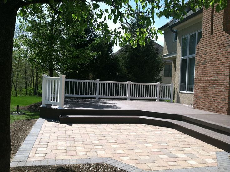Wood Deck And Stone Patio Combination | Outdoor Spaces | Pinterest | Stone  Patios, Decking And Patios