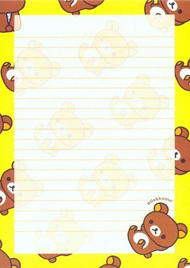 81 best Rilakkuma Printable agenda images on Pinterest Rilakkuma - printable notepad paper