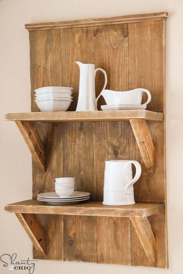 DIY- Easy Farmhouse Shelf Made from Reclaimed Wood ! BY Shanty 2 Chic