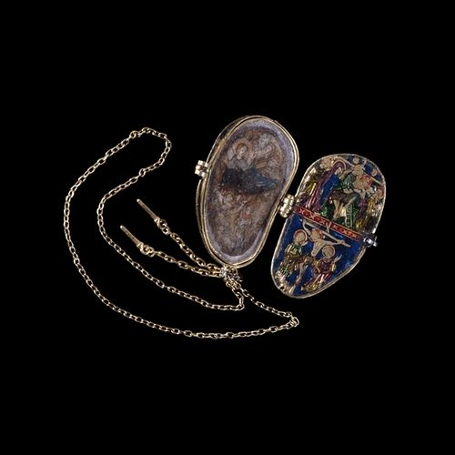 Reliquary pendant of the Holy Thorn    Medieval, around AD 1340  From Paris, France