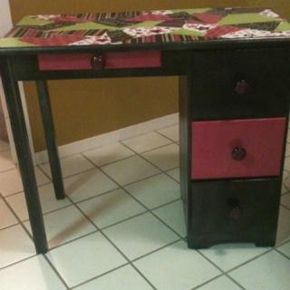Refinished child's desk