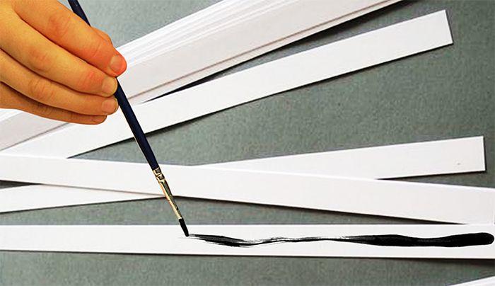 Graphisme MS Les lignes : Peinture sur bandes de papiers