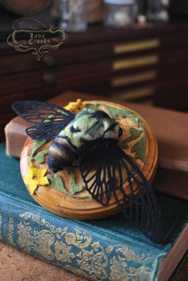 Cicada - Soft Sculpture by Lana Crooks - Sold