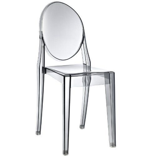 LexMod Philippe Starck Style Victoria Ghost Chair In Smoked Clear By 12900 No