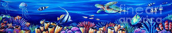 Barrier Reef by Deb Broughton - Barrier Reef Painting - Barrier Reef Fine Art Prints and Posters for Sale