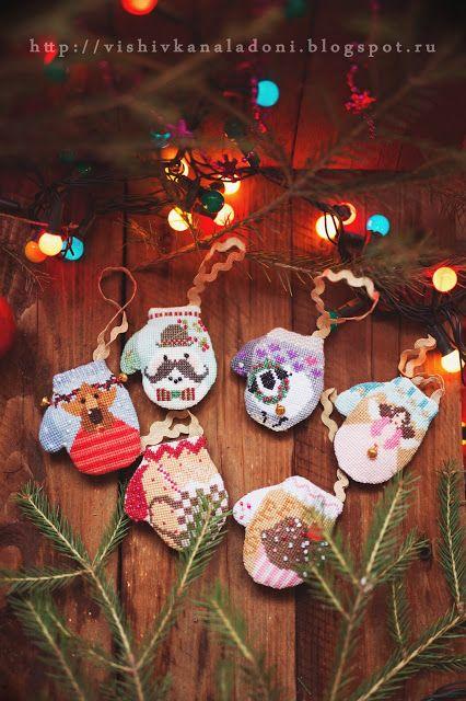 "Вышивка на ладони: The Cricket Collection ""Christmas mittens"" или Зимняя сказка начинается!!!"