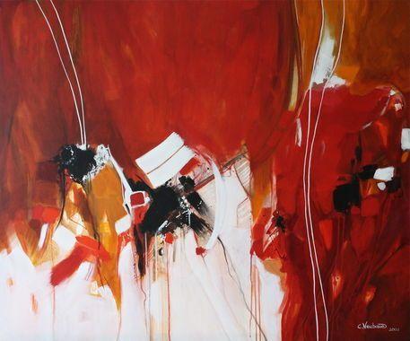 'Farbrausch in Rot' von Claudia Neubauer bei artflakes.com als Poster oder Kunstdruck $5.94