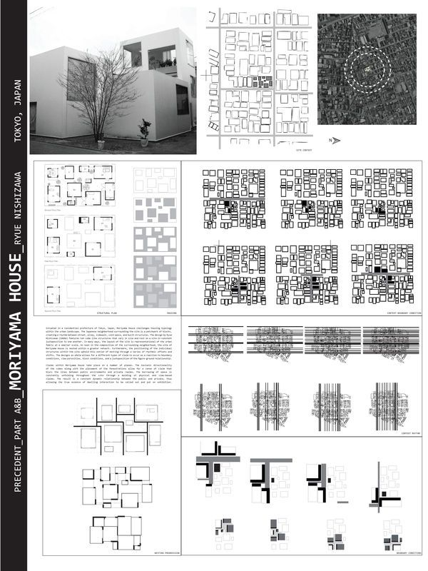 Moriyama House Analysis by Garrett Ryan Miller, via Behance