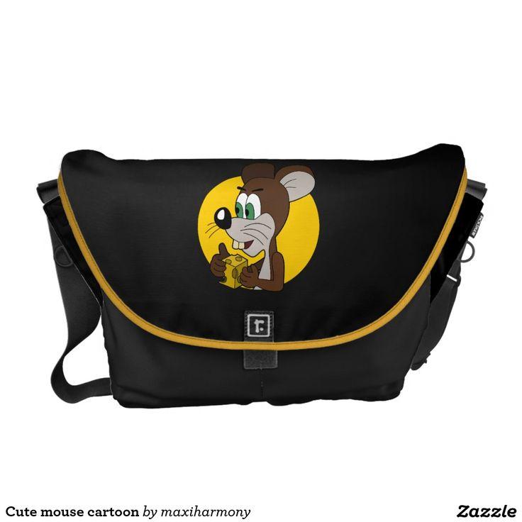 Cute mouse cartoon messenger bag