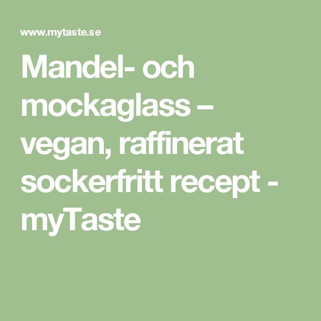 Mandel- och mockaglass – vegan, raffinerat sockerfritt recept - myTaste