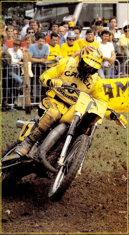 """Lackey: He was inspired as a youngster when he had an opportunity to race against Joël Robert in CA. He recalled watching Robert practice his starts, """"These were the days before start gates so you had to place your left (clutch) hand on your helmet until you got the start signal. Robert would wind his CZ up, kick in gear at the start, wheelie it all the way through the gears and then finally pull his hand down at the first turn.."""""""