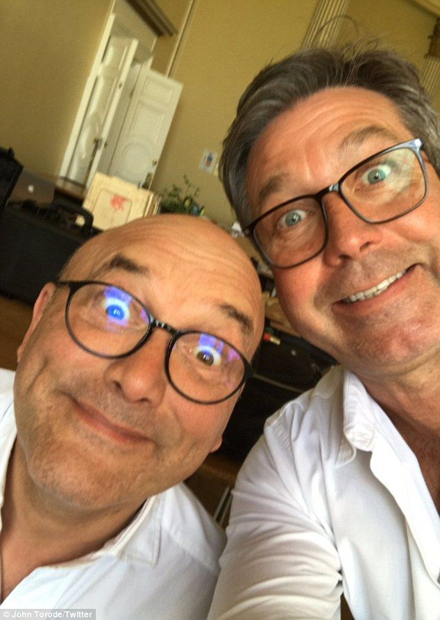 John Torode puts on a untied front with Masterchef co-host