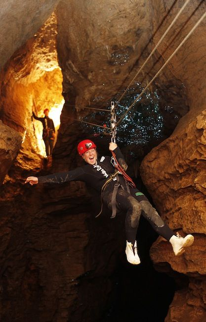 Black Water Rafting in the Waitomo Glow Worm Caves, North Island,New Zealand