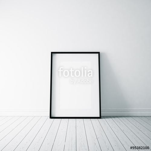 "Download the royalty-free photo ""Photo of empty frame on the white floor. Vertical. 3d render"" created by kantver at the lowest price on Fotolia.com. Browse our cheap image bank online to find the perfect stock photo for your marketing projects!"