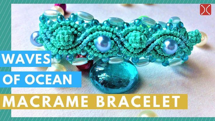 DIY macrame bracelet - the ocean wave armband - handmade tutorial by Tita