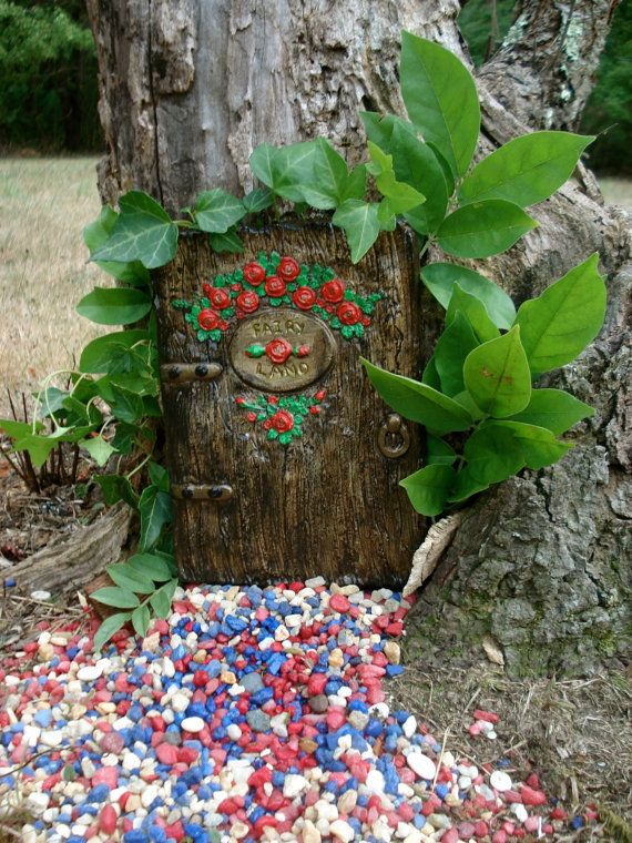 Faeries, Fairy Door, Gifts For Mom, Unique Garden Gifts, Housewarming Gift,  Outdoor Decor, Fairy Garden, Garden Statuary, Faeteam, Fantasy